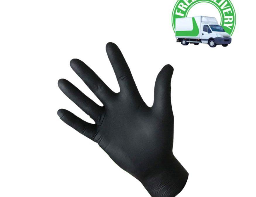 Black Premium Nitrile Gloves Ireland