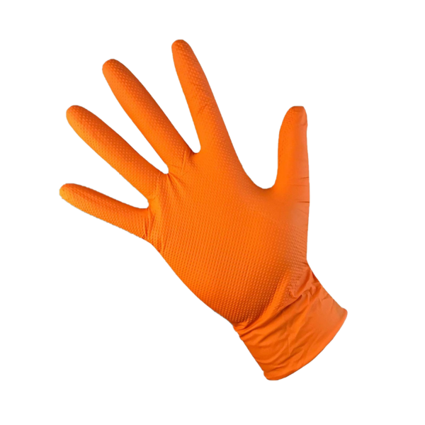 T-Grip Nitrile Orange Gloves